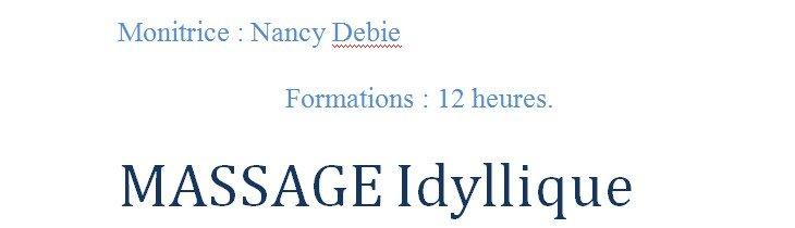 Formation massage Idyllique par Nancy Debie